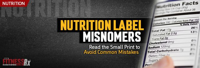 Nutrition Label Misnomers