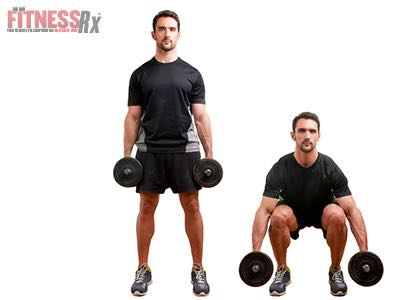 Dumbbell Exercises - Build Leg Power