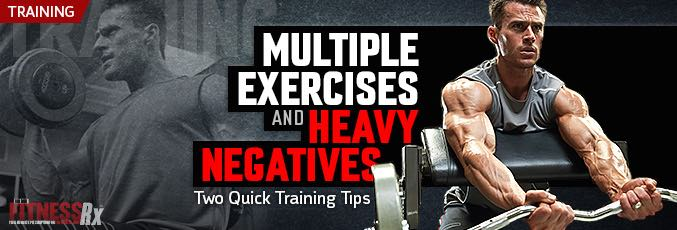 Multiple Exercises and Heavy Negatives