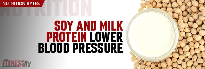 Soy and Milk Protein Lower Blood Pressure