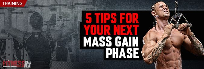 5 Tips For Your Next Mass Gain Phase