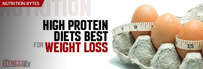 High-Protein Diets Best for Weight Loss