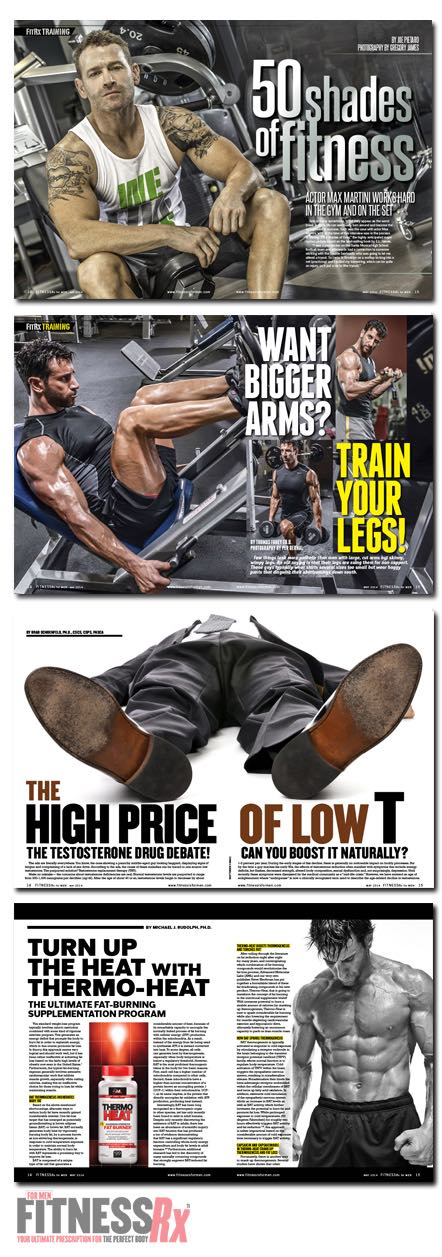 Get Ripped for Summer! - FitnessRx for Men May 2014 On Sale Now!