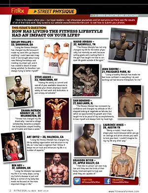 Street Physique - See Yourself in Our Next Issue