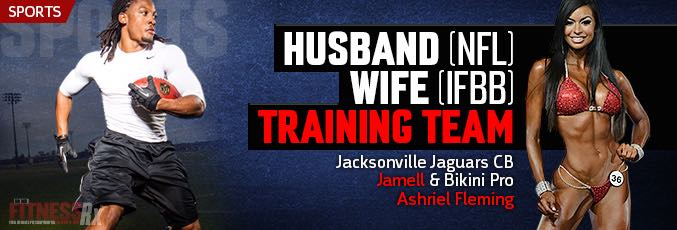 Husband (NFL) and Wife (IFBB) Training Team