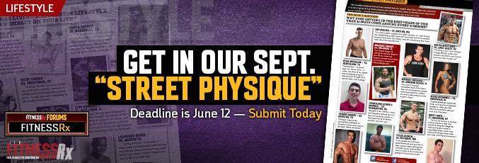 Street Physique (September Issue) Names Announced