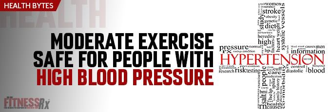 Moderate Exercise Safe for People With High Blood Pressure