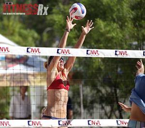 Blonde, Six-Feet Tall & Wearing High Heels - Pro Beach Volleyball Player/CFO NVL Molly Menard