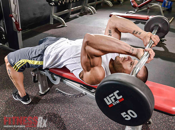 Lying Barbell Triceps Extensions aka Skull Crushers