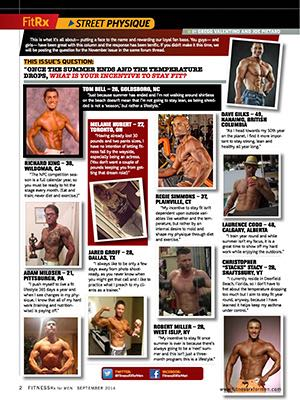 See Yourself in Our November Issue - Street Physique Entry