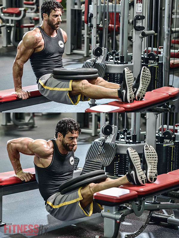 Blast Your Arms With HIRT! - Bench dips with weight