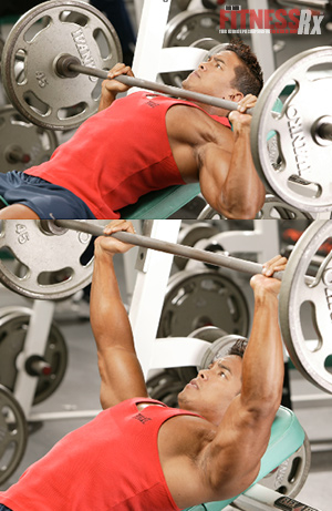 The Best Lifts for Chiseled Chest - BARBELL INCLINE PRESS