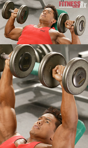 The Best Lifts for Chiseled Chest - INCLINE DUMBBELL PRESS