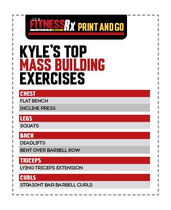 Kill It Like Kyle - Training, Tips For Hard Gainers and Top Mass Building Moves