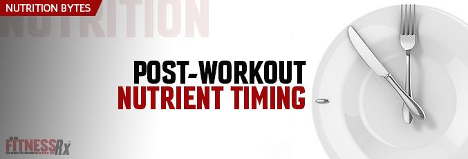 Post-Workout Nutrient Timing