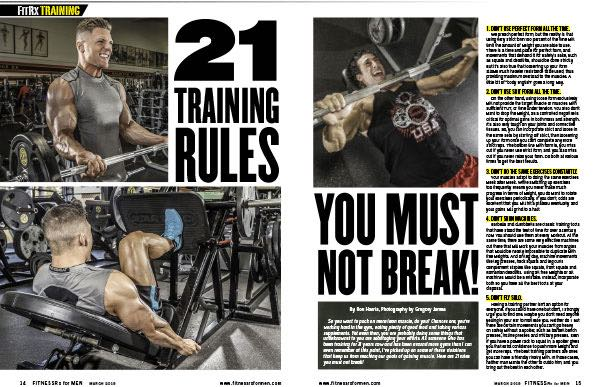 21 TRAINING RULES