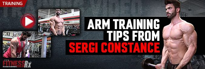 Arm Training Tips  From Sergi Constance