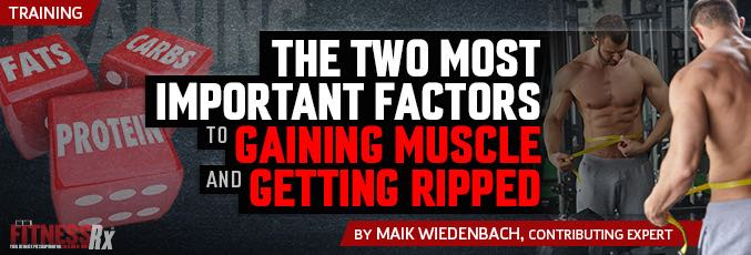 The Two Most Important Factors To Gaining Muscle And Getting Ripped