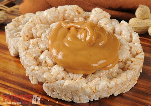 10 Healthy Snacks Under 200 Calories - 2 Rice Cakes with 1 Tablespoon Peanut Butter