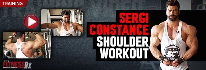 Sergi Constance Shoulder Workout