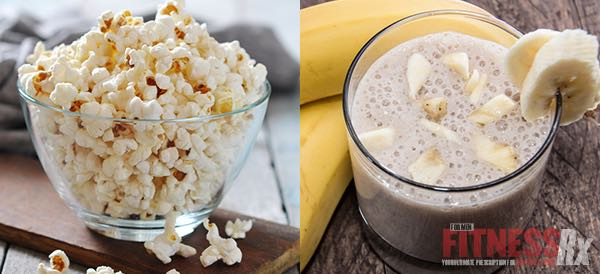 Popcorn and Banana Smoothie