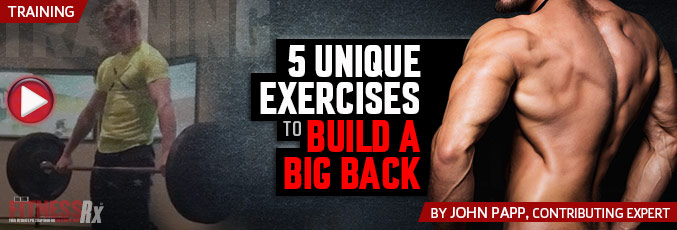 5 Unique Exercises To Build A Big Back