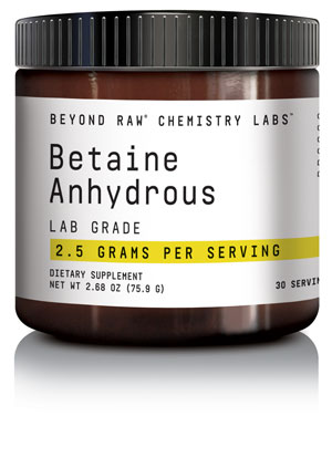 CHEMISTRY LABS™ line from BEYOND RAW® - Betaine anhydrous