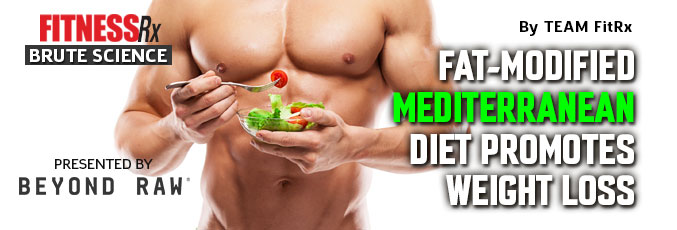 Fat-Modified Mediterranean Diet Promotes Weight Loss
