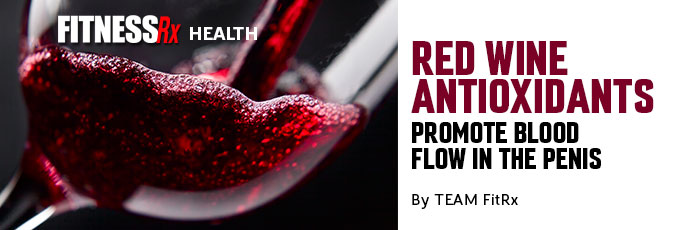 Red Wine Antioxidants Promote Blood Flow in the Penis