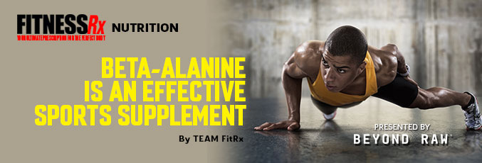 Beta-Alanine is an Effective Sports Supplement