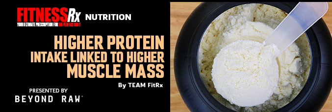 Higher Protein Intake Linked to Higher Muscle Mass