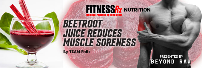 Beetroot Juice Reduces Muscle Soreness