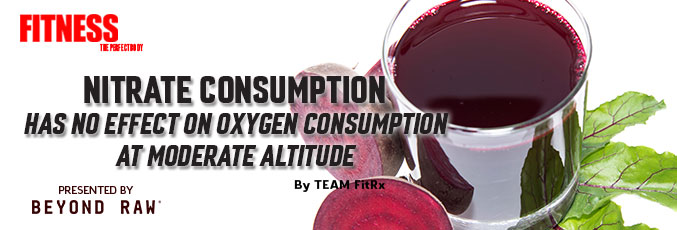 Nitrate Consumption Has No Effect on Oxygen Consumption at Moderate Altitude