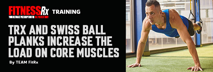 TRX and Swiss Ball Planks Increase the Load on Core Muscles