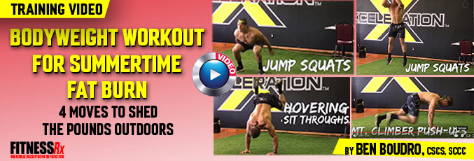 Bodyweight Workout for Summertime Fat Burn - 4 Moves to Get Ripped Outdoors