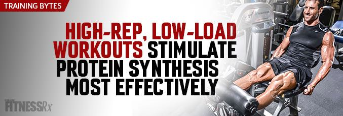 Low-Load, High-Volume Resistance Training