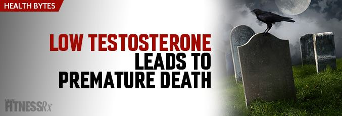 Low Testosterone Leads to Premature Death