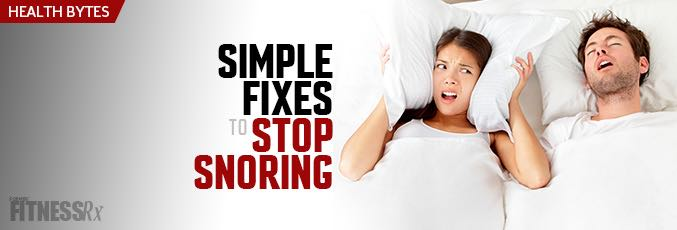 Simple Fixes To Stop Snoring
