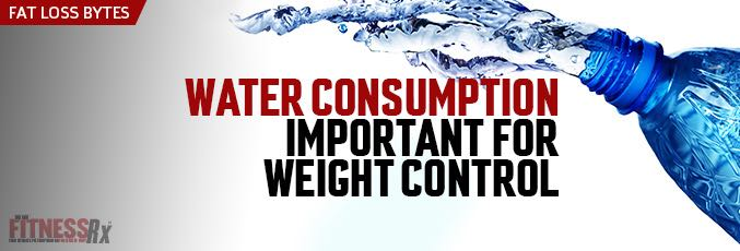 Water Consumption Important for Weight Control