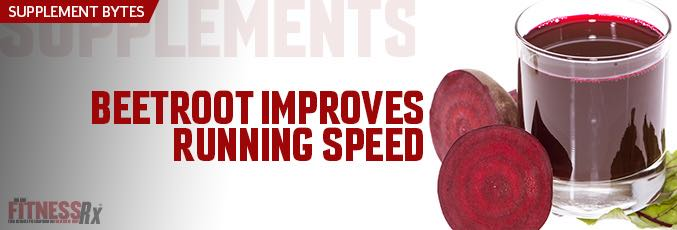 Beetroot Improves Running Speed