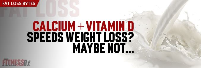 Calcium + Vitamin D Speeds Weight Loss? Maybe Not…