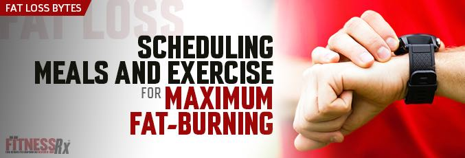 Scheduling Meals and Exercise