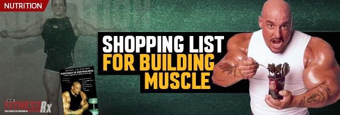 Shopping List for Building Muscle