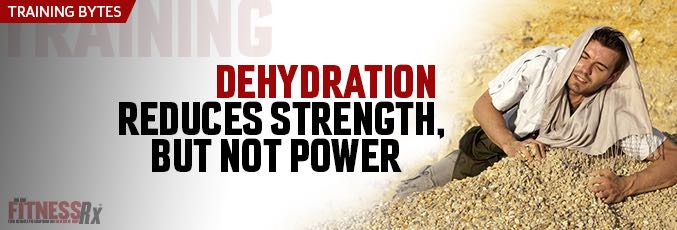 Dehydration Reduces