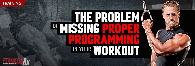 The Problem of Missing Proper Programming in Your Workout