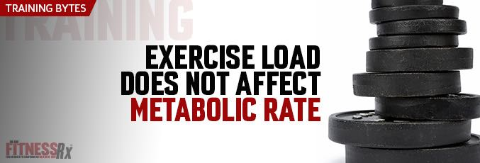 Exercise Load Does Not Affect Metabolic Rate