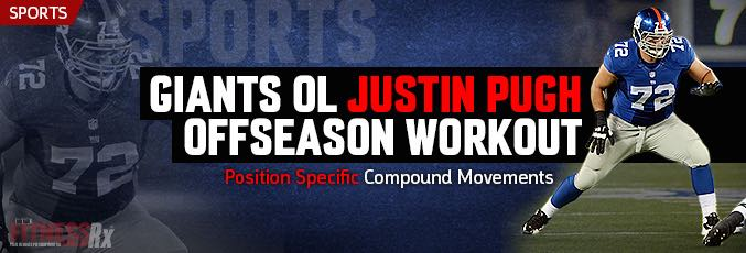 Giants OL Justin Pugh Offseason Workout