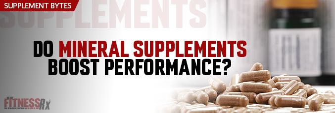 Do Mineral Supplements Boost Performance?