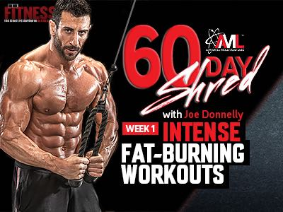 60 day shred workout week 1  fitnessrx for men