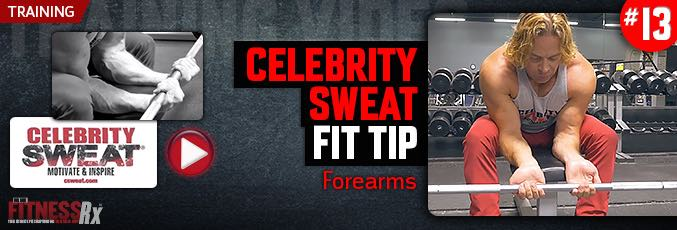 Celebrity Sweat Fitness Tip – Forearms